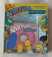 PC CD-Rom Game - The Simpsons - Virtual Springfield (1997) Big Box