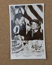 Shirley Temple & Jack Holt Real Photo Postcard xc2
