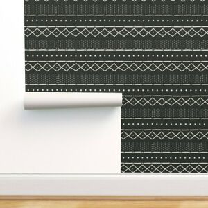Removable Water-Activated Wallpaper Mudcloth Modern Tribal African