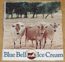 Blue Bell Ice Cream w/Cows in Pasture Crafters Unfinished Tapestry Fabric Piece