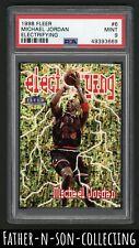 1998 Fleer Electrifying Michael Jordan #6 PSA 9 MINT Bulls Rare Pop 91 READ
