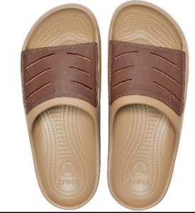 Crocs Men's Bogota Slide Sandals Choice Size Khaki  204972-22Y NWT size 11
