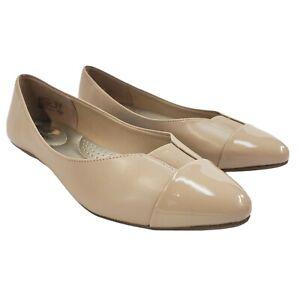Dexflex Comfort Womens Ballet Flats Shoes Size 10W Beige Tan Memory Foam 165866