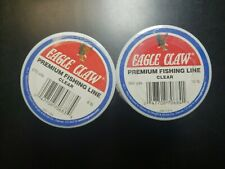 2x Eagle Claw Premium Fishing Line Clear 10lb 500 Yds New