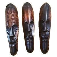 """🎁 ONE DAY SALE 12"""" - 13"""" African Gabon Cameroon Wood Fang Mask in Brown and Bla"""