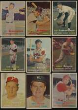 1957 Topps Baseball G avg lot of 205 different cards vy low grade BV $2613 56907