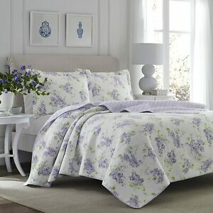 * NEW * Laura Ashley Keighley Lilac Quilt Set (King) (Kayleigh & Co.)