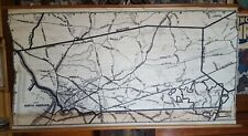 1944 German Air Invasion Wall Map of Andover Massachusetts 26x46 RARE
