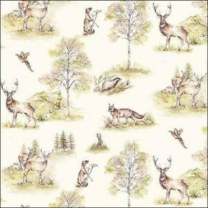 20 Paper Party Napkins Woodland Deer Pack of 20 3 Ply Luxury Serviettes Tissues