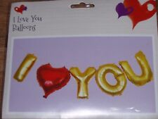 "5 x 16"" FOIL BALLOON VALENTINES DAY MOTHERS DAY BIRTHDAY I LOVE YOU AIR FILL"