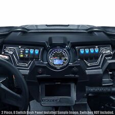 Polaris RZR XP1000 XP 900s 2016 Turbo 8 Switch Black 2 Piece Aluminum Dash Panel