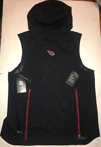 Arizona Cardinals Nike Shield Fly Rush Hoodie Vest Jacket Mens L XL XXL NWT $150