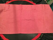 Pottery Barn Kids Red Denim Look Window Valance Set.