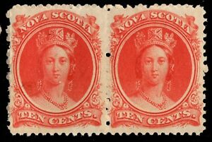 #12 pair Nova-Scotia Canada mint never hinged well cenered