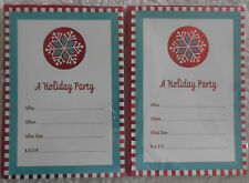 2 Packs of Very Cute Snowflake Holiday Party Invitations (1673)