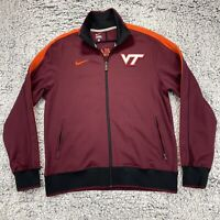 Nike Virginia Tech Hokies Mens Full Zip Jacket Size L - Patch Logo,  Embroidered