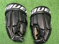 BAUER SUPREME 1000 HOCKEY GLOVES ADULT SENIOR SIZE 13 INCH Black Leather