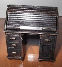 Old Fashioned Rolltop Desk - Rolltop Opens - Copper/gold - Pencil Sharpener