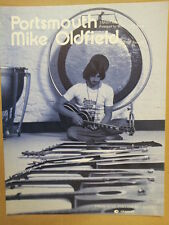 song sheet PORTSMOUTH Mike Oldfield 1976
