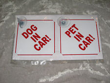 Pet Car Safety Signs Suction Disks Drive Safe Dog Puppy Auto NEW!