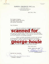 GEORGE S. BARNES - DOCUMENT - SIGNED - 1931 - REBECCA - ALFRED HITCHCOCK - AA