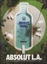 Absolut Vodka 1987 L.A. Los Angeles ad 8 x 11 advertisement