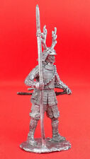 Awesome Tin Metal Figurine Soldier Model 1:32 54mm Samurai with spear 1600 year