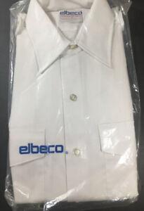 Vintage ELBECO White Button Down Post Office Regulation Uniform Shirt,Sz 19 NEW!