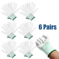 Nylon Gloves White Tool Wraps Vinyl Working Cleaning Set Kit Protection Hand Kit