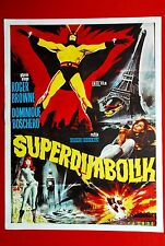 SUPER DIABOLIK ARGOMAN SCI-FI 1967 RARE EXYU MOVIE POSTER