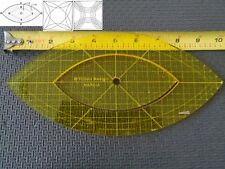 Quilting Template Ruler 5mm Nesting Arcs for Long Arm, High Shank Machines