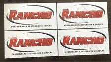 4 Rancho Shocks Racing Decals Stickers 4x8 Offroad Overland Lsfest Drags Ultra4