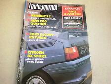 """REVUE  """" L' AUTO JOURNAL """" N° 6  ANNEE  1985  *"""