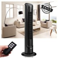 Bladeless Oscillating Tower Fan Cooling Air Conditioner 3 Speed w/ Remote Floor
