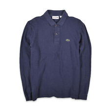 Lacoste Herren Polo Poloshirt Shirt Gr.3 (S) Classic Fit Longsleeve Blau 102931