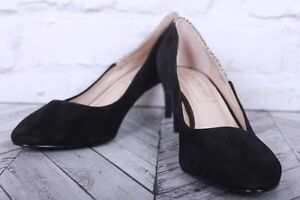 AUTOGRAPH Court Pumps Shoes M&S Black Snake Faux Leather High Heel RRP £55 UK 4