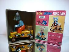 MODERN TOYS JAPAN  TOM & JERRY HAND CAR  - COMIC - EXTREMELY RARE - GOOD IN BOX
