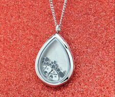 Black Cat Tear Memory Locket Necklace, Cat Memorial Jewelry, Pet Loss Gift