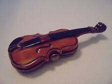 Limoges Porcelain Trinket Box Violin Vintage