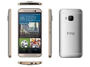 HTC One M9 6535L - 32GB - Gold on Silver Verizon + GSM Unlocked Smartphone C