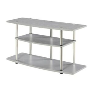 Convenience Concepts Designs2Go 3 Tier Wide TV Stand, Gray - 131031GY