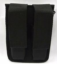 MAGAZINE POUCH DOUBLE - NYLON GLOCK 17 19 22 23 26 34 35 - BLK - New MADE IN USA