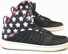 Supra Stevie Williams Men's Skate Sneakers Black White Stars High Top Shoes 9M