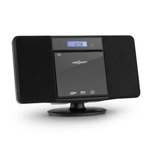 Stereo Anlage Kompakt CD Player Wandmontage Bluetooth Radio MP3 USB Uhr CD WMA