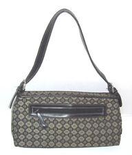 Nine West Jacquard Handbag Purse Shoulder Bag 2 Compartments Satchel Logos