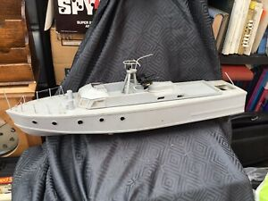 RC Handmade 2ft  Wooden Model Remote control Patrol Boat .