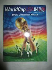 1994 World Cup USA 1994 Official CHAMPIONSHIP & GAMEDAY Programs! Brazil! + SI