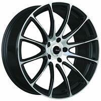 19x8.5 Advanti Racing Svelto 5x112 +45 Black/MF Wheel Fits jetta MKV,MKVI Passat