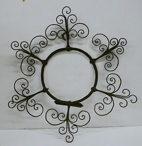 Antique Hand-Made Wrought Iron Plate Hanger Mexico