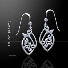 Unique Celtic Knotwork .925 Sterling Silver Earrings by Peter Stone